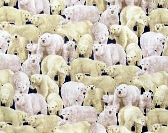 Polar Bear Fabric Living Wonders Polar Bear Fabric From Fabri-Quilt 100% Cotton