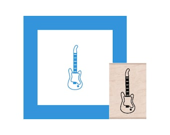 Electric Guitar Rubber Stamp