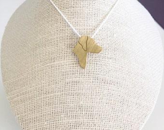 Rhodesian Ridgeback necklace, Rhodesian Ridgeback charm, Brass dog necklace, pet memorial gift