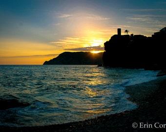 Vernazza Cinque Terre Sunset Print, Italy Print, Cinque Terre Photography, Italy Photography Prints, Sunset Print, Sunset Photography,