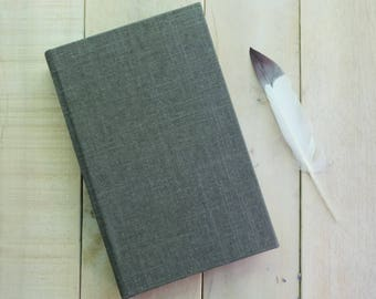 NNatural Linen Journal or Sketchbook, Writing Journal, Unlined Notebook, Blank Journal, Blank Diary, Blank Notebook