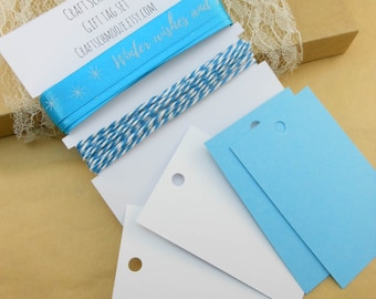 Blue and White, Christmas giftwrap, Satin Ribbon, Gift tags, Christmas gift, Christmas tags, Holiday gift tags, gift wrap, large, printed