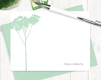 Personalized Note Card Set - personalized stationary - nature stationery - tree cards - modern cards - set of 12 flat note cards - TREE