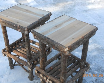 Bon Rustic Twig Stands,Twig Furniture,Set Of 2