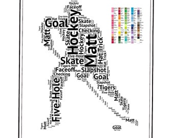 Hockey, Hockey Gifts, Gifts, PERSONALIZED, Ice Hockey Gifts, Hockey Team Gifts, Gift for Him, Son, Daughter 8 x 10 Print