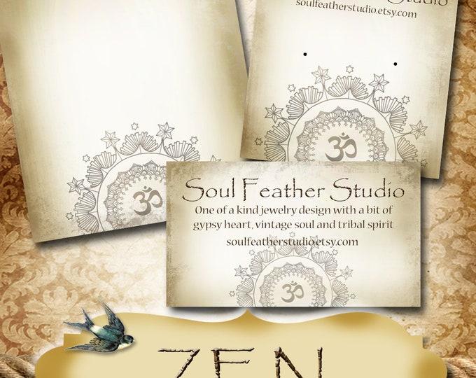 ZEN•Custom Tags•Labels•Earring Display•Clothing Tags•Custom •Boutique Card•Tags•Custom Tags•Custom Labels