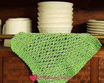 Double Moss Dishcloth Crochet Pattern