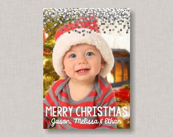 Confetti Christmas Card, Photo Christmas Card, Christmas Cards, Holiday Cards, Holiday Photo Card, Printable Christmas Card, Photo Cards