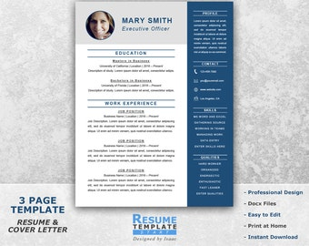 executive resume template word professional resume template for word resume cover letter template - Executive Resume Template