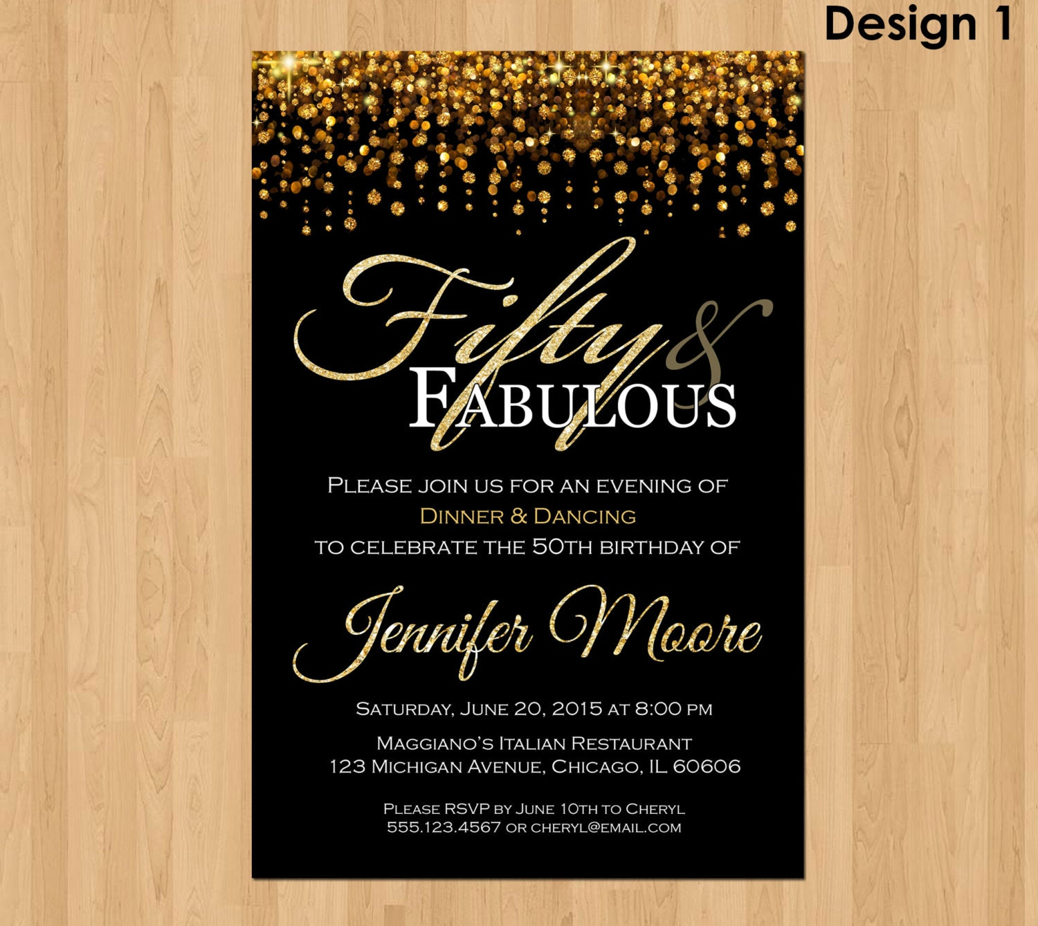 50th invitations birthday invitation fabulous fifty party templates invites invite template cards milestone unique card geburtstagseinladung word gold einladung male