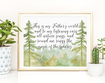 This is my father's world - Hymn lyrics - Scripture Art - Bible Verse - Verses for Women