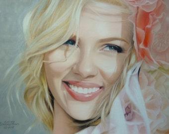 Scarlett. Pastel portrait.