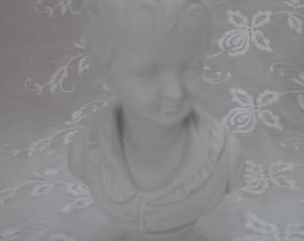 Vintage Lefton China French Boy Bust Figurine, ECS