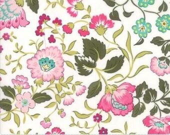 Regent Street Lawn 2016 by Moda - English Garden - Ivory - FQ Fat Quarter Cotton Lawn Fabric 117