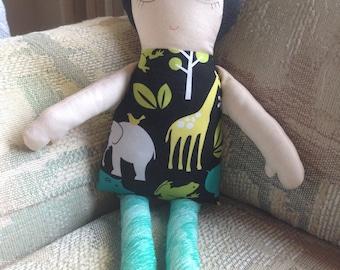 Rag Doll, Cloth doll, Girl doll, Toy
