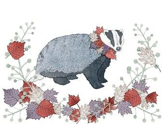Beloved Badger print