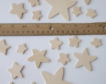 Stars | Wood Crafts | Homemade Crafts | DIY Crafts | Craft Wood | Unfinished Wood