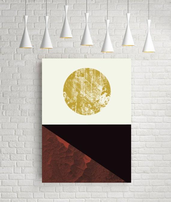 Abstract landscape fine art print modern wall art room