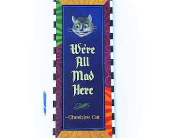 Alice in Wonderland Cheshire Cat We're all mad here wall art