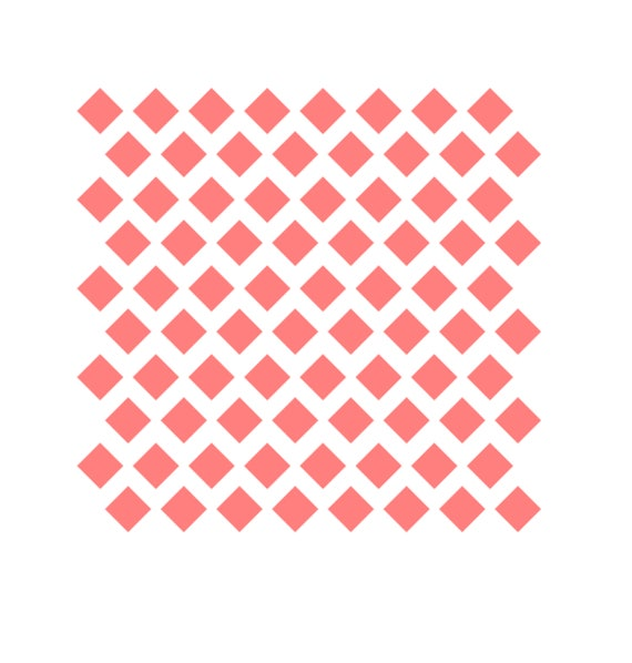 Diamant-Muster-Schablone Diamant-Cookies Offset