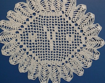 "Custom Crocheted Initial Doily   ""Y"""