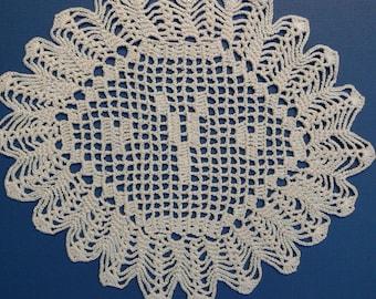 Personnalisé au crochet napperon initiale « Y »