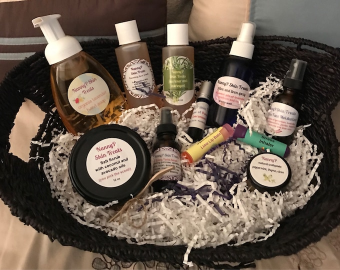 Organic Spa Gifts - Choice Of 4 Baskets
