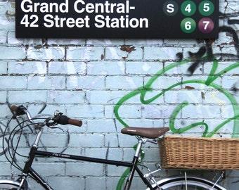 new york city manhattan subway sign train station signage