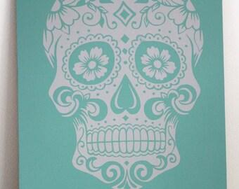 Dia De Los Muertos - Sugar Skull - Day of The Dead - Floral Skull - Skull Art - Sugar Skull Art