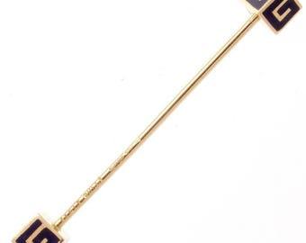 Gucci Enamel Gold Stick Pin
