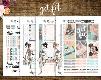 Get Fit | 2017 Big Happy Planner | Printable Planner Stickers | Planner Printables | Fitness | Workout | Weekly Layout | Big Happy Planner
