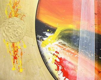 Abstract Original Art, Series R: Orange 1