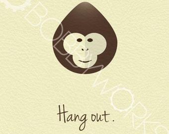 Hang Out - Monkey Print
