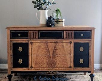 Burled Walnut Dresser