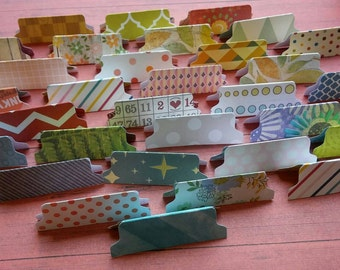 20 File Folder Die Cuts File Tab Paper Punch Divider Tabs Make Your Own Embellishments