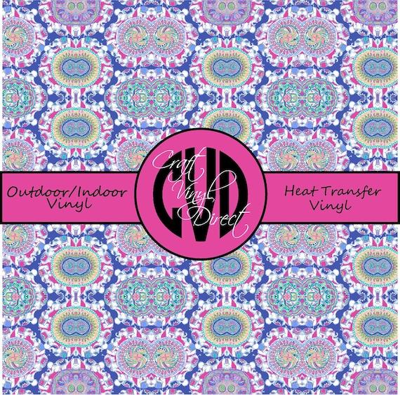 Beautiful Patterned Vinyl // Patterned / Printed Vinyl // Outdoor and Heat Transfer Vinyl // Pattern 688