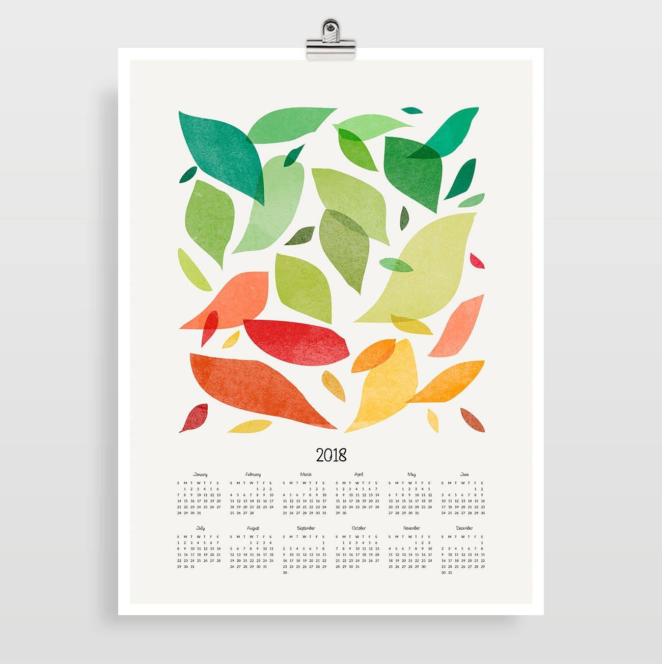 2018 Wandkalender große Kalender 2018 Kunstkalender