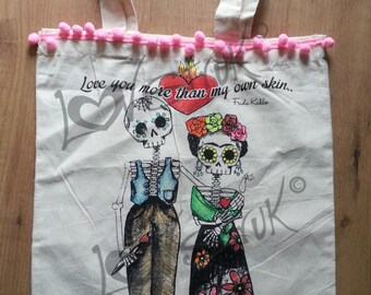 Diego and Frida Tote bag
