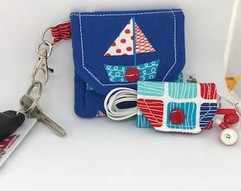 Pocket Pouch and Cord Wrap // Earbud Pouch // Key Chain // Teen Tween // Gift Idea // Under 10 // Black Friday // Sale // Stocking Stuffer