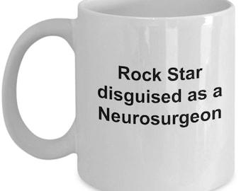 neurosurgeon mug-Rock Star disguised as a Neurosurgeon-rockstar mug