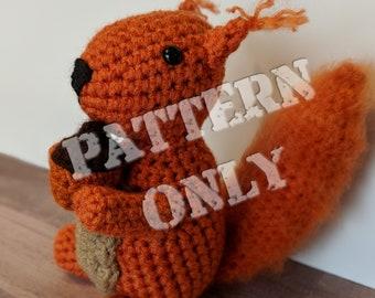 Baxter the Squirrel PDF Crochet Pattern Tutorial-Crochet Pattern-Squirrel Crochet