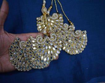 Indian Embellishment, Beaded Tassel for Wedding Lehenga Dress Blouses, Decorative Tassles - Accessories Latkan, Dupatta Tassel
