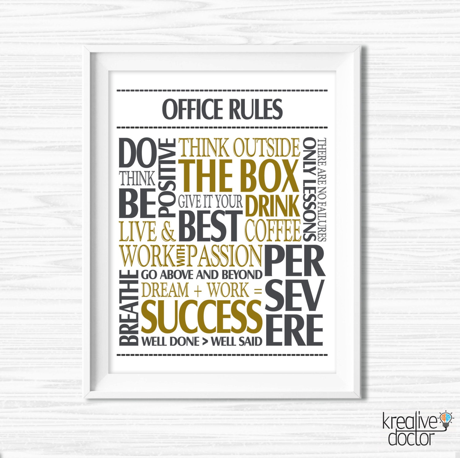 Quotes Wall Art Office Wall Art Motivational Wall Decor Inspirational Quote