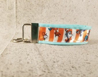 Cat in the Hat Ribbon Keychain