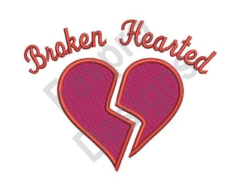 Broken Hearted - Machine Embroidery Design