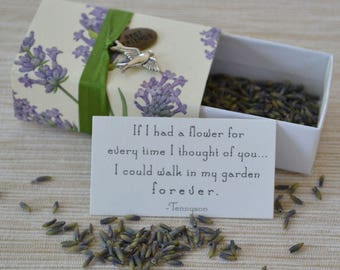 Lavender Thinking of You Message Box