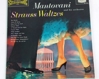 Mantovani and his Orchestra Strauss Waltzes Vinyl LP Record Album PS 118