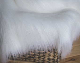 White Faux Fur, Newborn Photo Props, Basket Filler, Basket Stuffer, Newborn Blanket Prop, Newborn Props, Photo props, Fur, Basket Fur