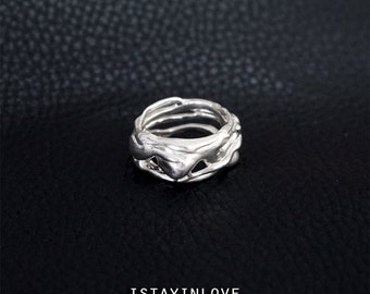 Sterling Silver Free Life Tree Ring | Unisex Rings | Nature Inspired Rings