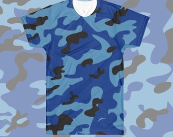 Camouflage All Over T-Shirt Blue